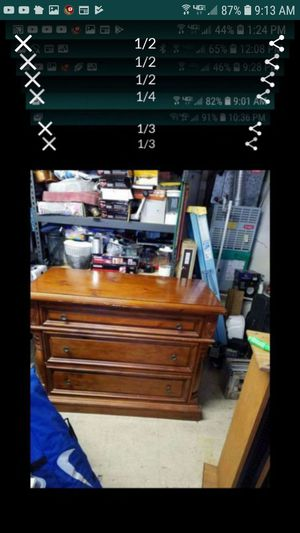 2 dressers exact same 48 x36 x 23 deep could use touch up or can paint both for $95 for Sale in Tracy, CA