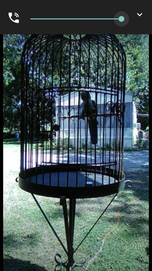 Rod iron 2 piece bird cage for Sale in Letohatchee, AL