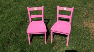 Two solid wood toddler chairs for Sale in Modesto, CA