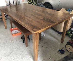 Solid Hardwood farmhouse style kitchen table for Sale in Zephyrhills, FL