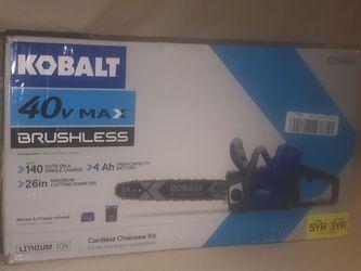 Kobalt 40v Brushless Cordless Chainsaw Kit for Sale in Newnan,  GA
