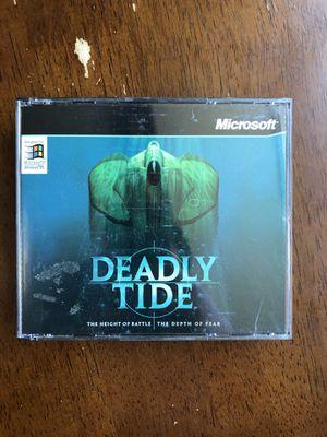 Deadly Tide (1996) Windows 95 PC CD-ROM Game Complete W/ Key, Manual & 4 Discs! for Sale in Phoenix, AZ