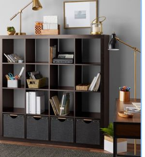 New!! organizer, bookcase, bookshelves, storage unit, console, 16 cube organizer, TV stand, lamp stand, living room furniture, entrance furniture , for Sale in Phoenix, AZ