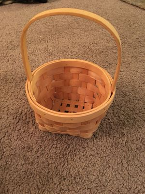 Wicker Basket with Handle for Sale in Eatontown, NJ