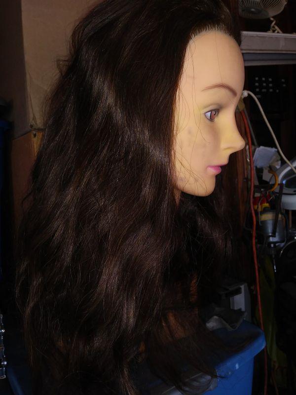 Maniqui cabeza long hair never used