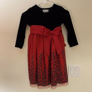 Bonnie Jean girls red and black holiday dress size 5 for Sale in Port Charlotte, FL