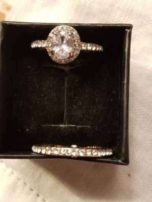 2 piece rose gold ring size 7 for Sale in Denver, CO