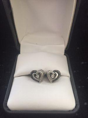 Black and White diamond earrings for Sale in Mechanicsburg, PA