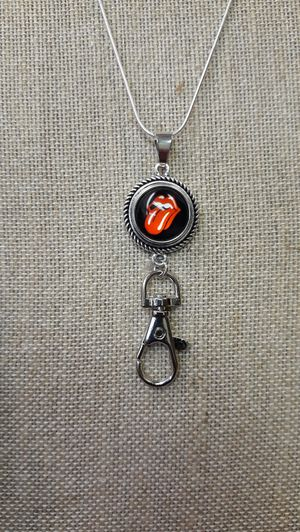 Rolling Stones Necklace with Badge Holder ( SHIPPING ONLY) for Sale in Jacksonville, FL