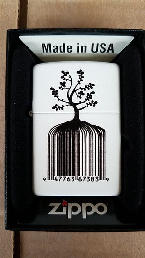 Zippo identity tree barcode white matte 28296 for Sale in Los Angeles, CA