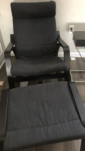 Poang rocking chair with ottoman with additional chair cushion for Sale in Alexandria, VA