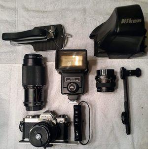 Vintage Nikon FM SLR camera & acc6. for Sale in Milford, DE