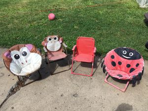 Kids outdoor folding chairs for Sale in Cleveland Heights, OH