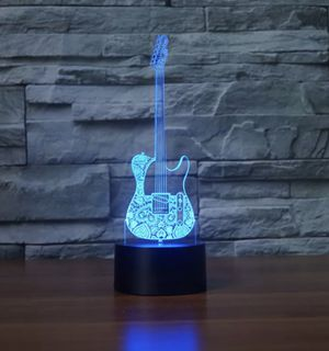"""Rare bass guitar 9"""" 3D LED Desk Lamp-night Light for Sale in Lowellville, OH"""