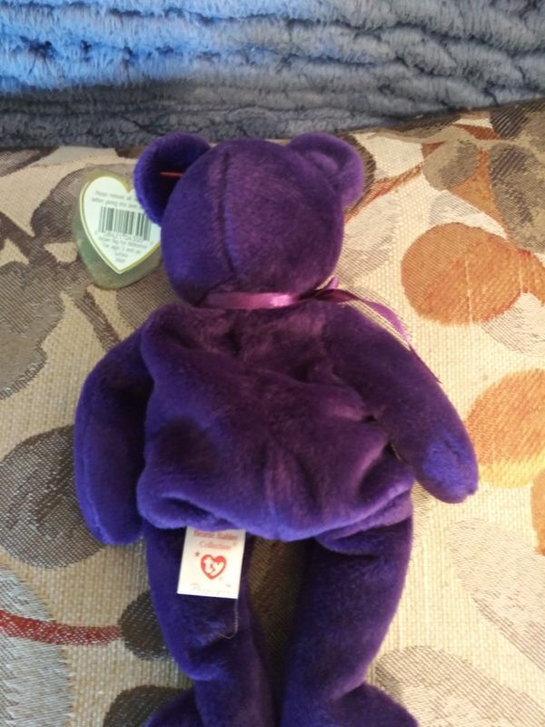 Ty Beanie Babie Rare Princess Diana Bear