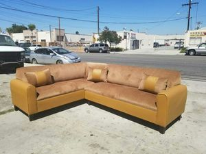 NEW 7X9FT BARCELONA PECAN FABRIC SECTIONAL COUCHES for Sale in Ontario, CA