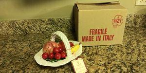 Authentic Italian Capodimonte Fruit Basket for Sale in Chicago, IL