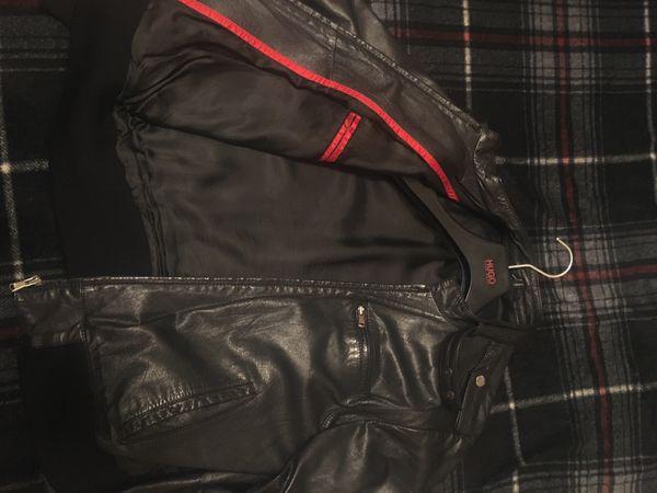 Men's Hugo Boss Leather Jacket brand new