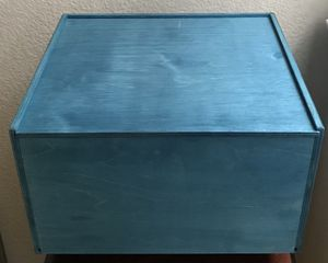 Blue Wooden Storage Box for Sale in Rancho Santa Margarita, CA