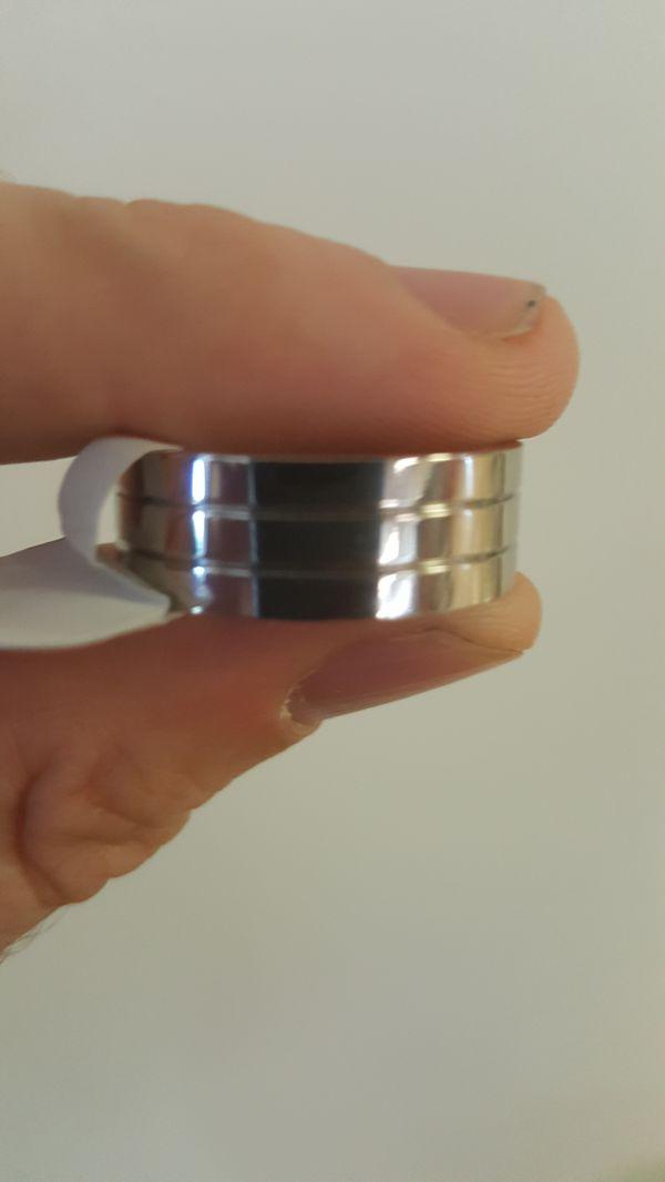 Men engagement / wedding rings titanium/tungsten.