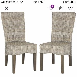Solid wood and Woven Wicker chairs by Beachcrest Home. Brand new. Set of 4 asking $300 for Sale in Palm Springs, CA