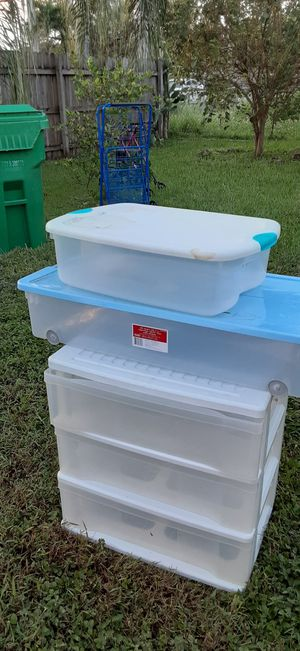 Storage Plastic containers for Sale in Homestead, FL