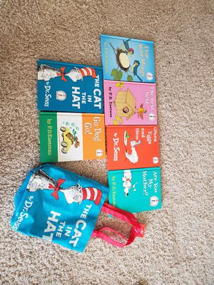 Dr.Seuss book set 6ct + bag for Sale in Katy, TX