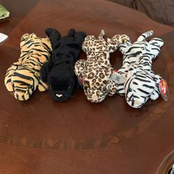 4 Wild Cat Beanie Babies for Sale in Livermore,  CA