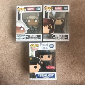 Funko Pops : Storm, Magneto, and Forrest Gump for Sale in Foster City, CA