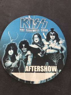KISS THE FAREWELL TOUR AFTERSHOW SATIN PASS  for Sale in Rialto, CA