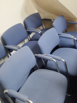 6 Blue Office Chairs 2 Blue Office Desk Chairs for Sale in Suisun City,  CA
