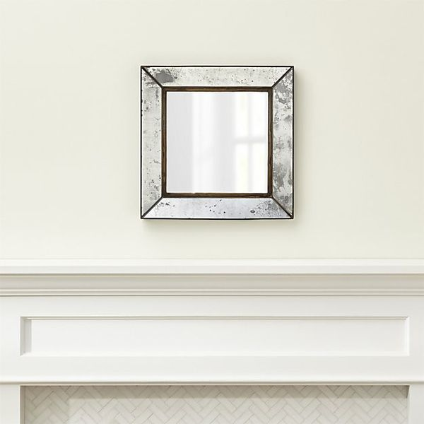 CRATE & BARREL DUBOIS SMALL SQUARE WALL MIRROR (SET OF 4)