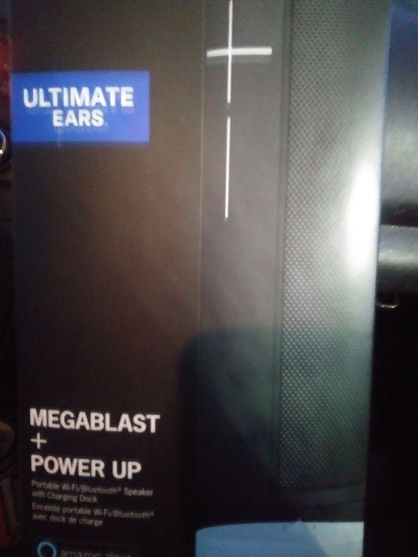 Megablast bluetooth speaker w/ alexa + wireless charging stand