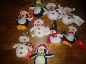 10 pc. Plush Cristmas tree/ gift ornaments for Sale in Modesto, CA