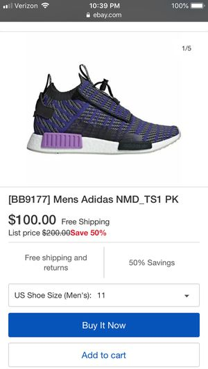 Adidas nmd size 10 US 44 for Sale in Chicago, IL