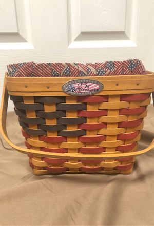 1998 25th Anniversary Longaberger basket for Sale in Providence, KY
