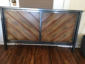 Backboard, Bed frame, Mattress, and Boxspring for Sale in Greensboro, NC