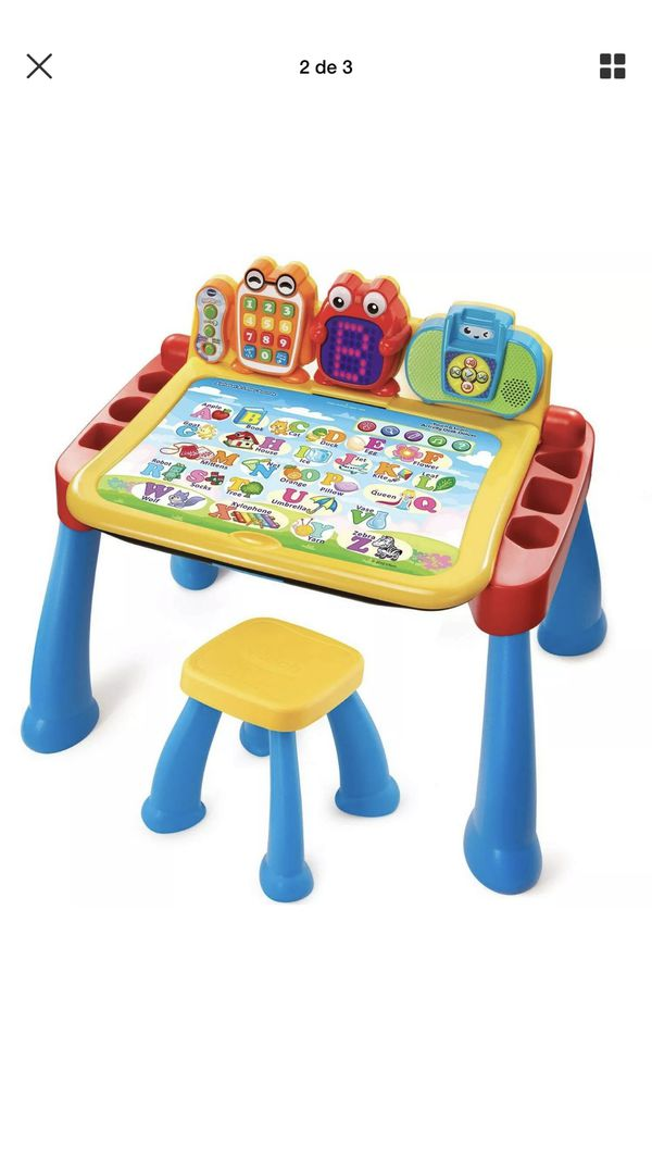 VTech Touch Learn Activity Desk Deluxe Stool Child Toddler Interactive Kids Toy