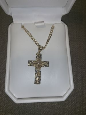 14k gold chain whit cross pendant for Sale in Germantown, MD