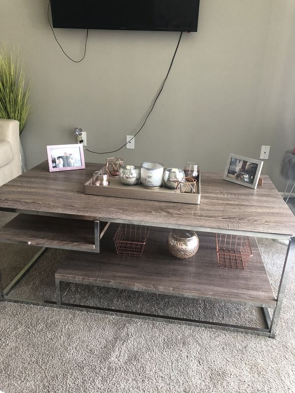 Leather Couch & Love seat with Coffee table