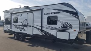 Pre Owned Toy hauler - 2019 Sandstorm 242SLC by Forest River RV for Sale in Huntington Beach, CA
