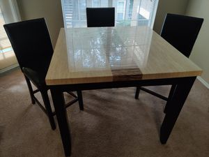 Dining Table with 3 Chairs for Sale in Crucible, PA