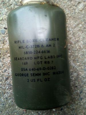 Antique world war 2 rifle cleaner 20 bottles missing still have 30 for Sale in West Linda, CA