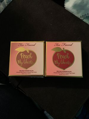 Too Faced Peach My Cheeks Melting Powder Blush $15 ea for Sale in Sylvania, OH