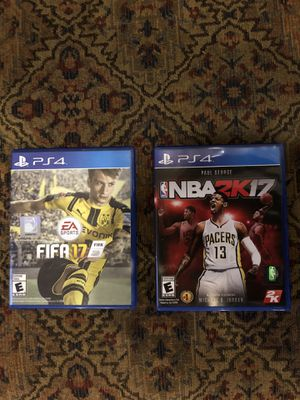 FIFA 17 and NBA 2K17 for PlayStation 4, PS4 for Sale in Springfield, VA