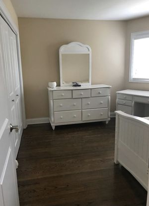 White dresser,nightstand, and desk for Sale in Naperville, IL