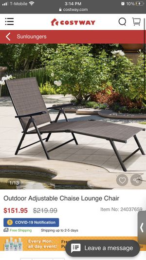 Adjustable lounge chair for Sale in Corona, CA