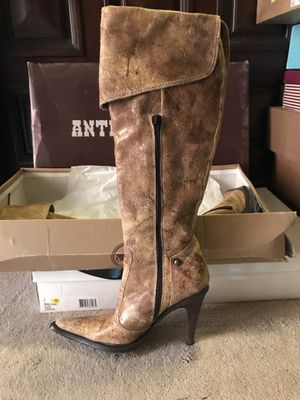 Antik Denim Distressed Leather Boots. Size 7 for Sale in Dallas, TX