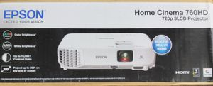 EPSON HOME CINEMA 760 HD (720P 3 LCD) PROJECTOR for Sale in Arlington, TX