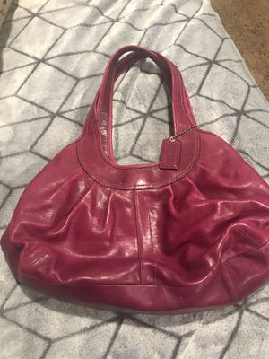 Hot Pink Leather Coach Purse AUTHENTIC for Sale in Claremont, CA